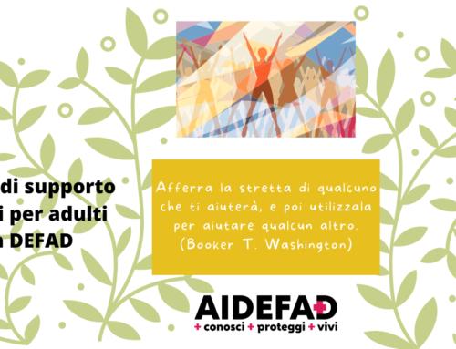 Gruppo di supporto tra pari per adulti con DEFAD