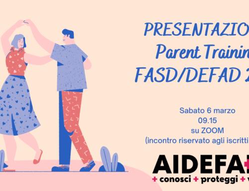 PRESENTAZIONE Parent Training FASD/DEFAD 2021