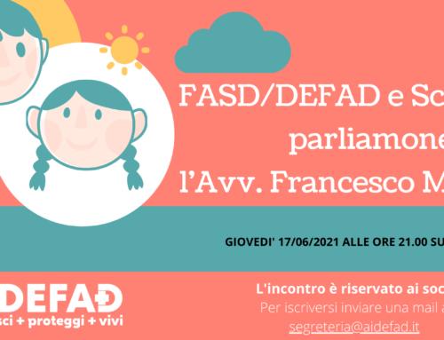 FASD/DEFAD e Scuola: parliamone con l'Avv. Francesco Magni